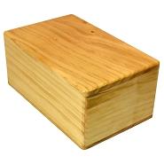 4 inch wood yoga block thumbnail